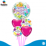 BUQUE HAPPY MOTHER DAY BUBBLE COM BORBOLETAS