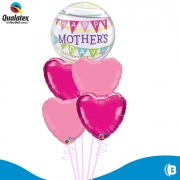 BUQUE HAPPY MOTHER DAY BUBBLE COM CORAÇÕES