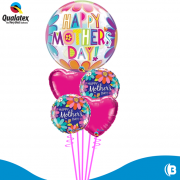 BUQUE HAPPY MOTHER DAY BUBBLE COM FLORES
