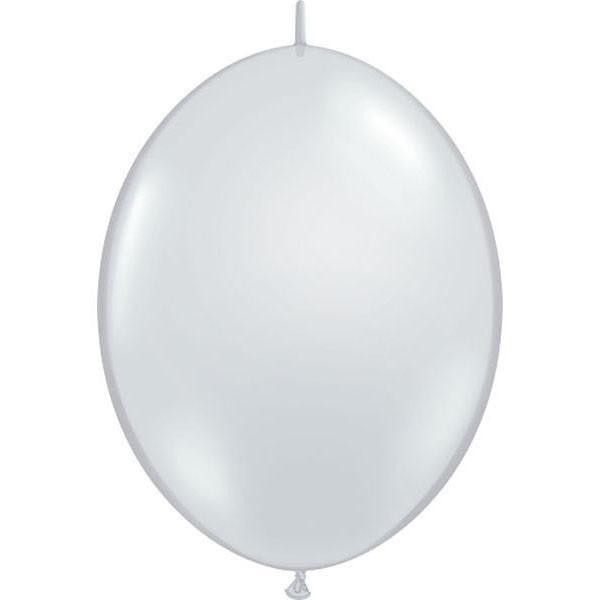 BALÃO 12 POLEGADAS Q-LINK DIAMANTE TRANSPARENTE CRISTAL - PC 50 QUALATEX #65273