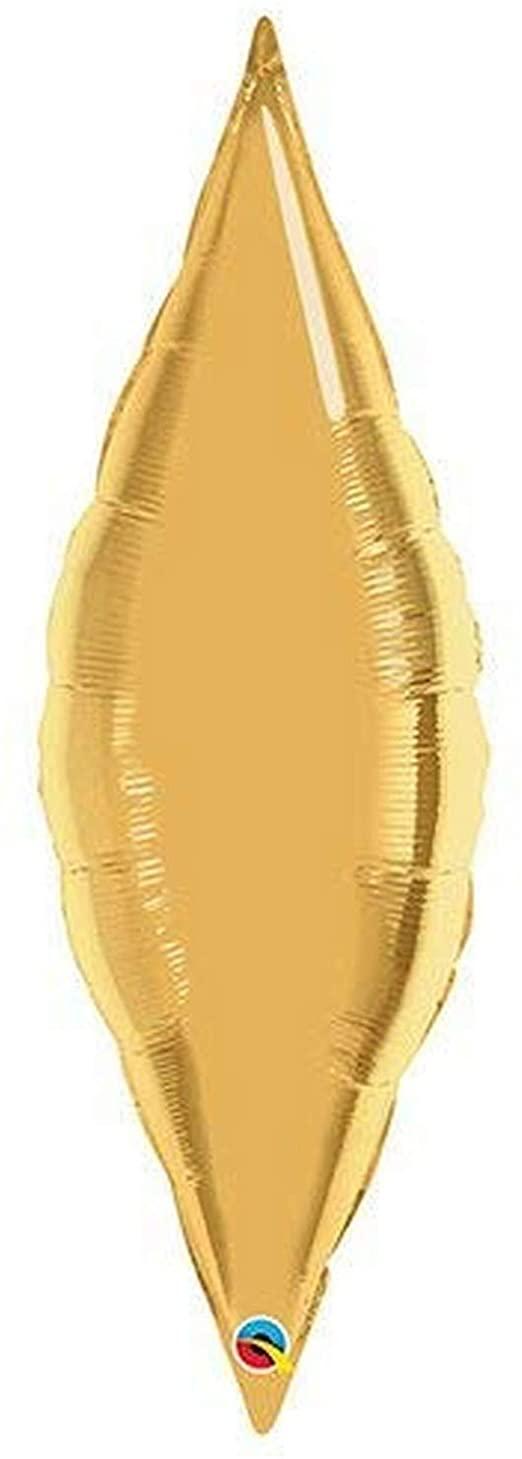 BALÃO 27 POLEGADAS TAPER METALLIC GOLD PLAIN FOIL #17133
