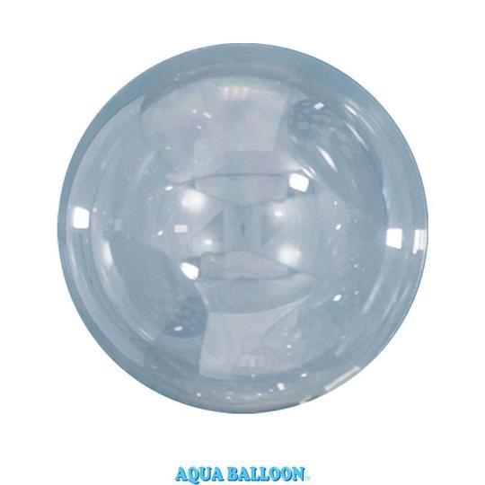 BALÃO AQUA BALLOONS CLEAR 470MM PACOTE 10UN QUALATEX #12041