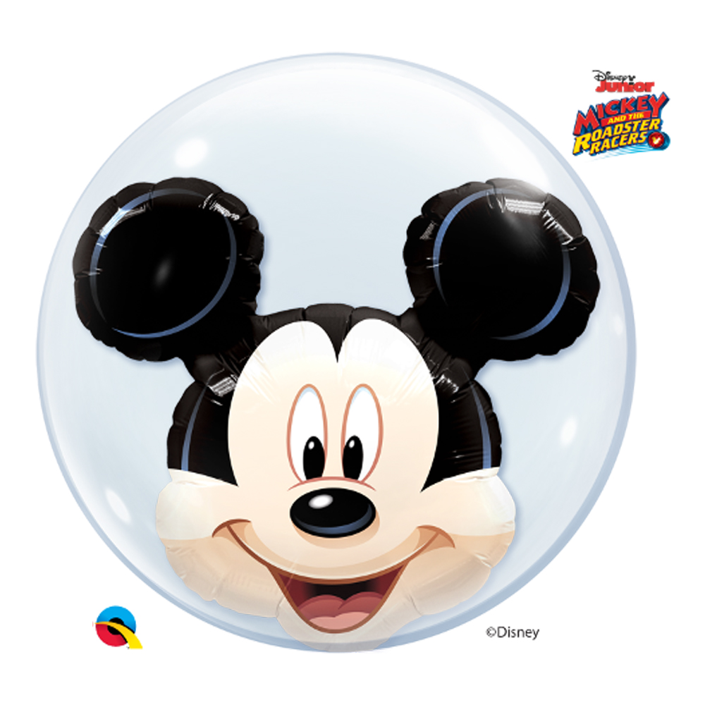 BALÃO BUBBLE DUPLO MICKEY MOUSE DA DISNEY - 24 POLEGADAS  - QUALATEX #27569