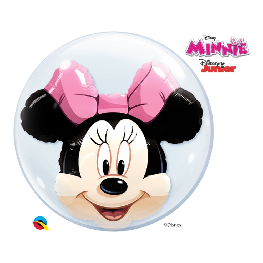 BALÃO BUBBLE DUPLO MINNIE MOUSE DA DISNEY  - 24 POLEGADAS  - QUALATEX #27568