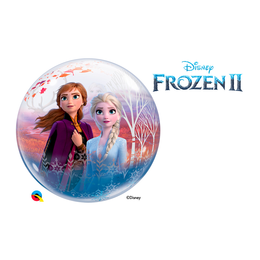 BALÃO BUBBLE FROZEN 2 DA DISNEY - 22 POLEGADAS  - QUALATEX #97502
