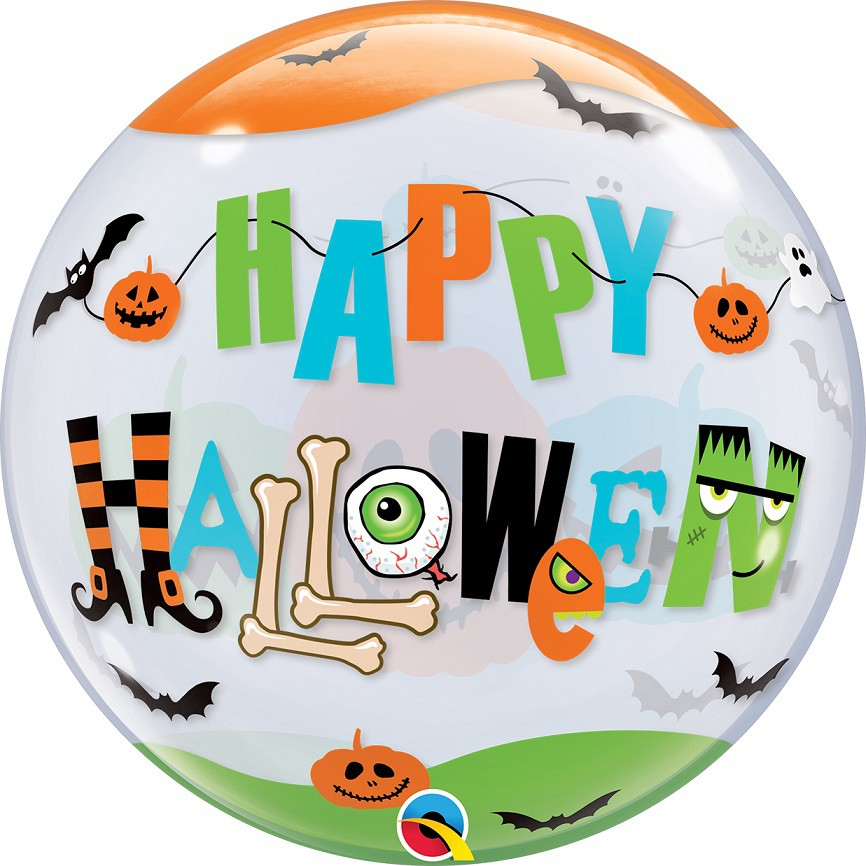BALÃO BUBBLE HALLOWEEN - FONTE DIVERTIDA 22 POLEGADAS - QUALATEX #89728