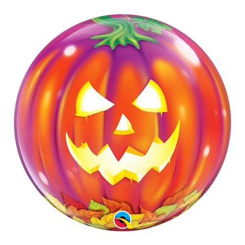 BALÃO BUBBLE JACK O' LANTERN - 22 POLEGADAS  - QUALATEX #18494