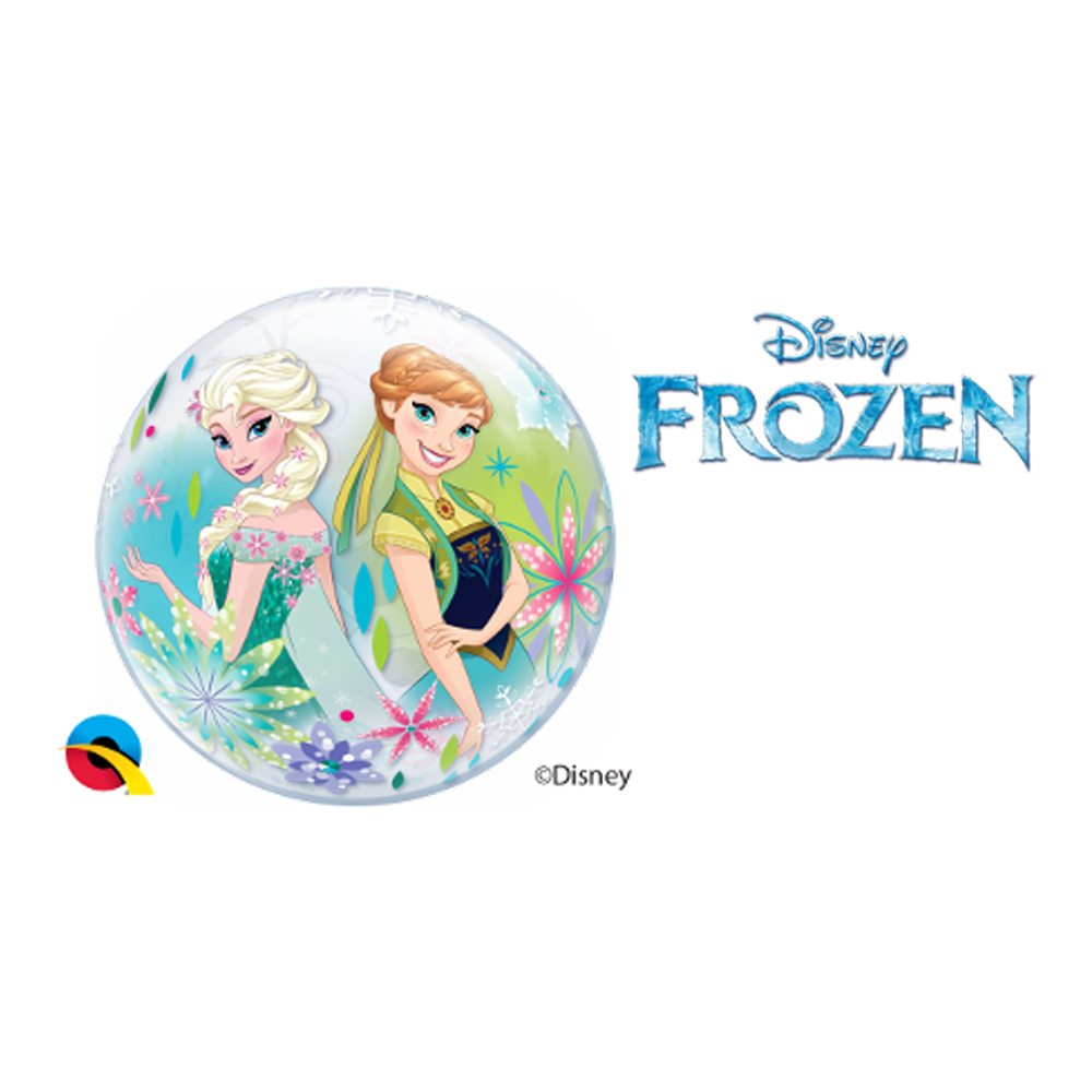 BALÃO BUBBLE PARA VARETA FROZEN FEVER DA DISNEY (10 UN.)  - 12 POLEGADAS QUALATEX #22879