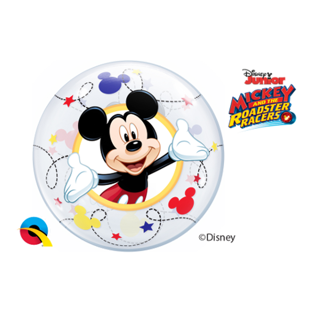 BALÃO BUBBLE PARA VARETA MICKEY DA DISNEY - PC 10 UN. QUALATEX #22881