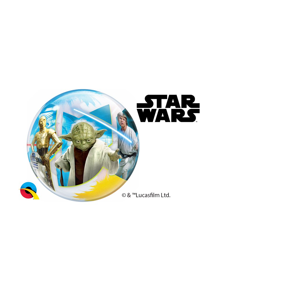 BALÃO BUBBLE PARA VARETA STAR WARS: LIGHT VS SIDES - PC 10UN - QUALATEX #22875