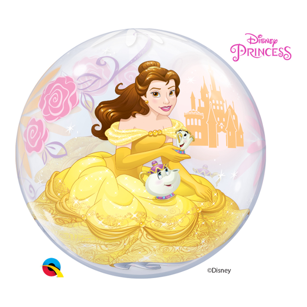 BALÃO BUBBLE PRINCESA BELA DA DISNEY - 22 POLEGADAS  - QUALATEX #46727