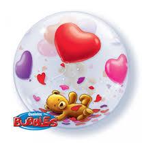 BALÃO BUBBLE TEDDY BEARS FLOAT 22 POLEGADAS QUALATEX #65205