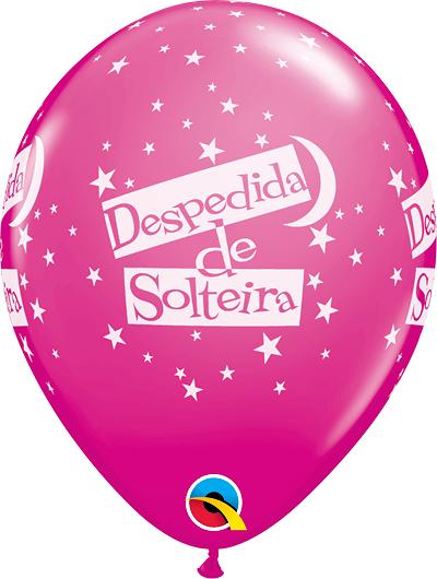 BALÃO DE LÁTEX 11 POLEGADAS DESPEDIDA DE SOLTERIA ESTRELAS PC 06 -  QUALATEX #44585