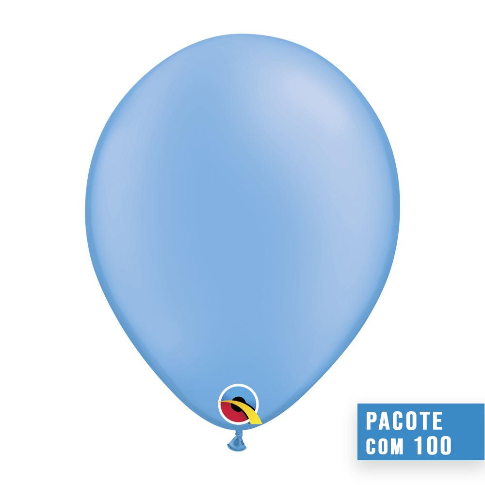 BALÃO DE LÁTEX AZUL NEON 11 POLEGADAS - PC 100UN - QUALATEX #78389