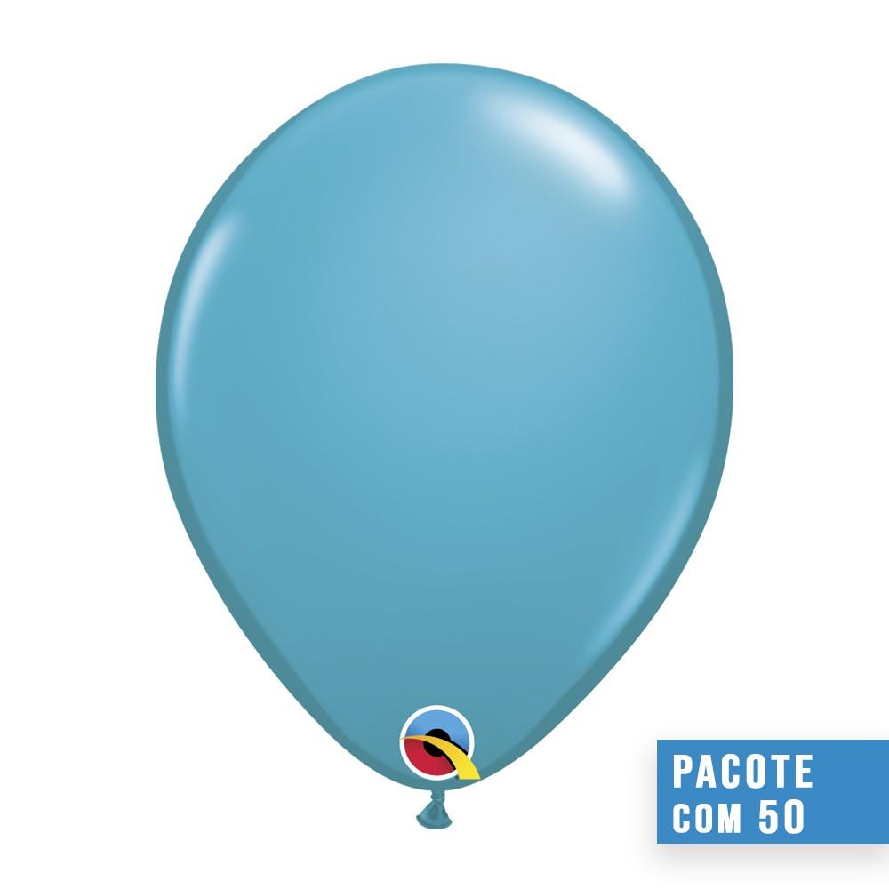 BALÃO DE LÁTEX AZUL PETRÓLEO TROPICAL 16 POLEGADAS - PC 50UN - QUALATEX #43902