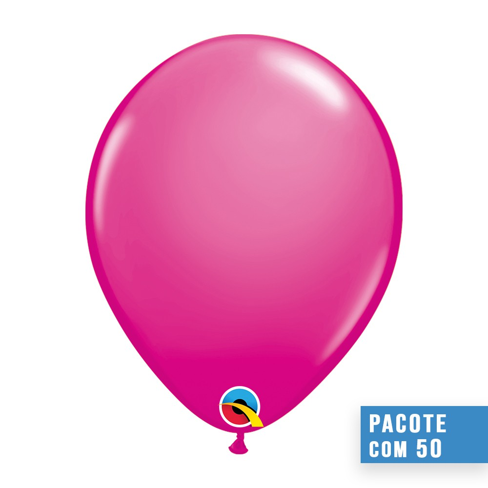 BALÃO DE LÁTEX CEREJA INTENSO 16 POLEGADAS - PC 50UN - QUALATEX #25574