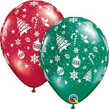 BALÃO DE LÁTEX - CHRISTMANS  TRIMMINGS - 11 POLEGADAS - SORTIDOS - PC 50UN - QUALATEX  #40559