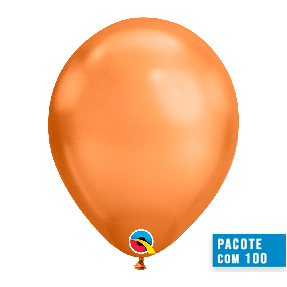 BALÃO DE LÁTEX COBRE CHROME 11 POLEGADAS - PC 100UN - QUALATEX #12977