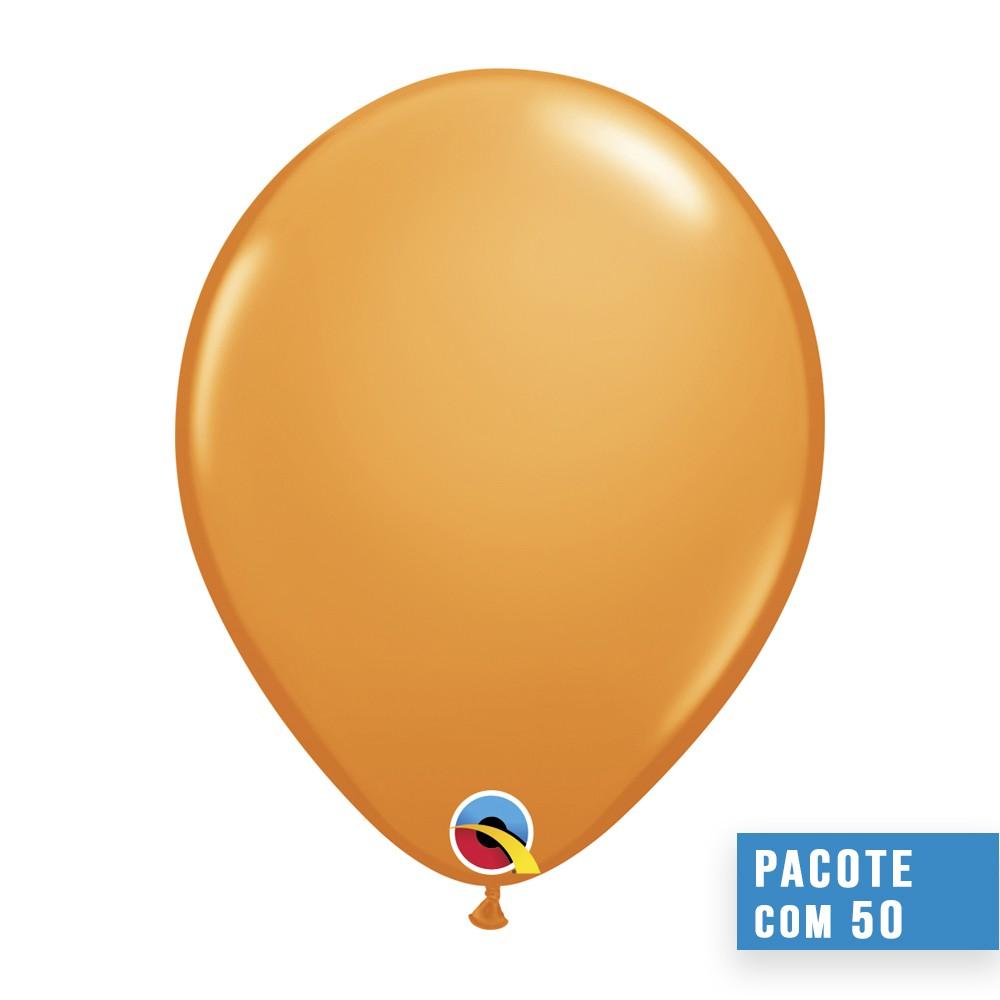 BALÃO DE LÁTEX LARANJA 16 POLEGADAS - PC 50UN - QUALATEX #43878