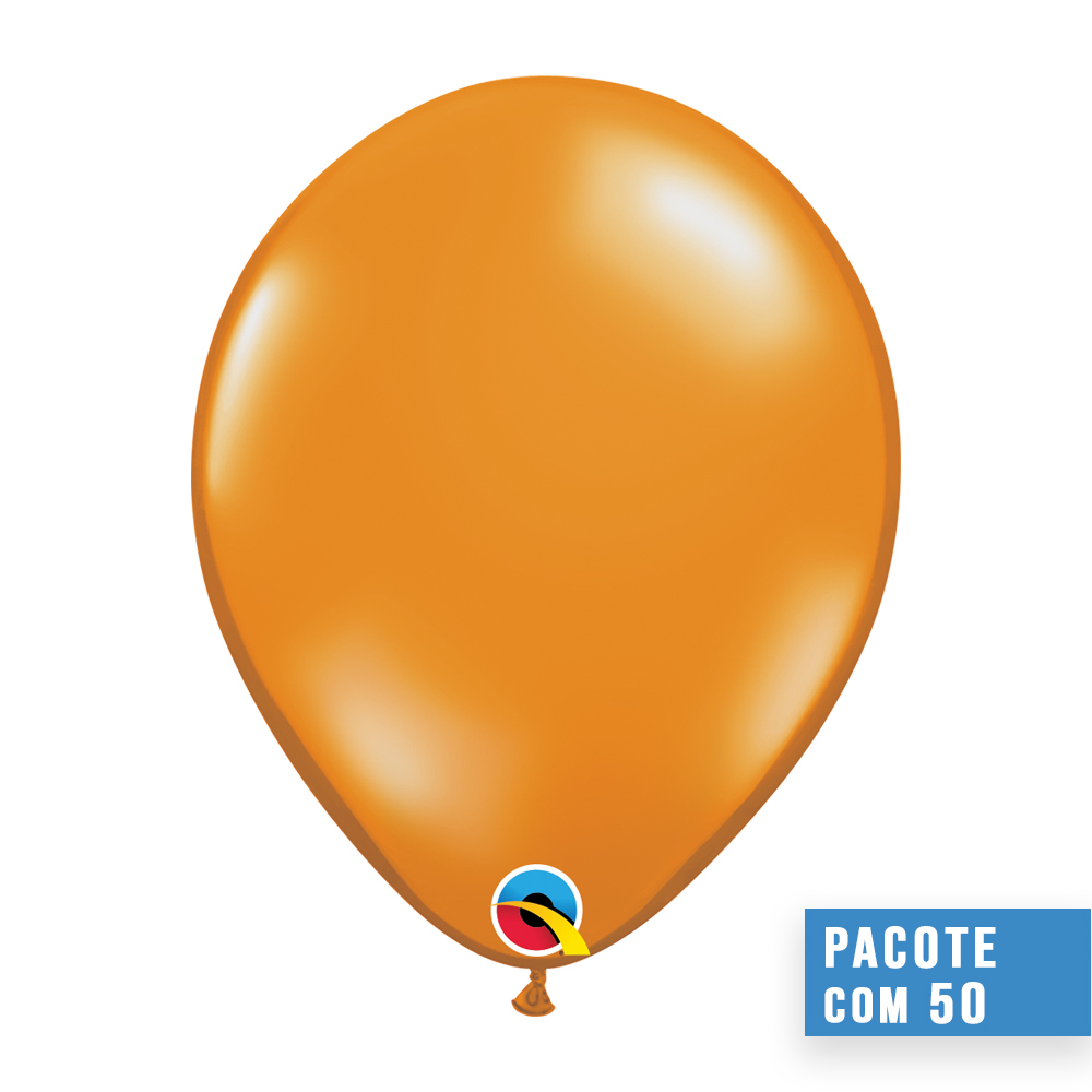 BALÃO DE LÁTEX LARANJA MANDARIM 9 POLEGADAS - PC 100UN - QUALATEX #43695