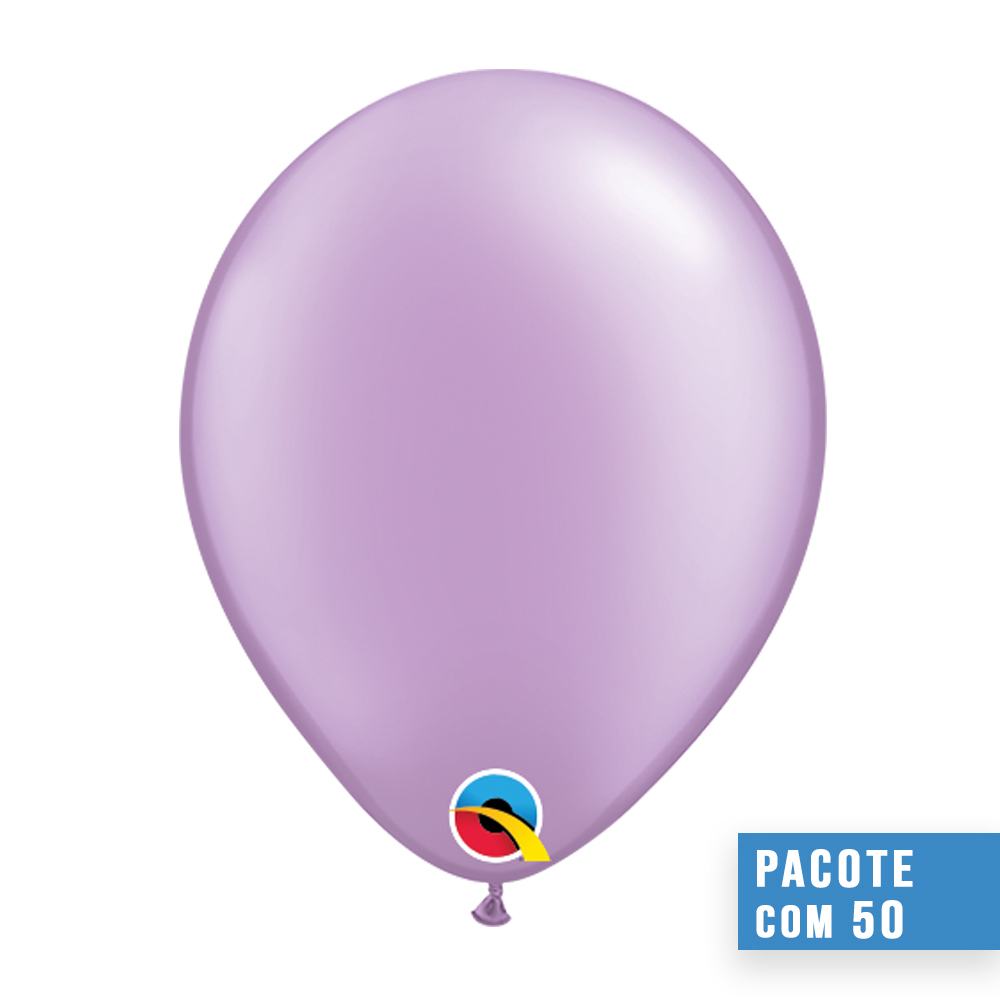 BALÃO DE LÁTEX LAVANDA PEROLADO 16 POLEGADAS - PC 50UN - QUALATEX #43889