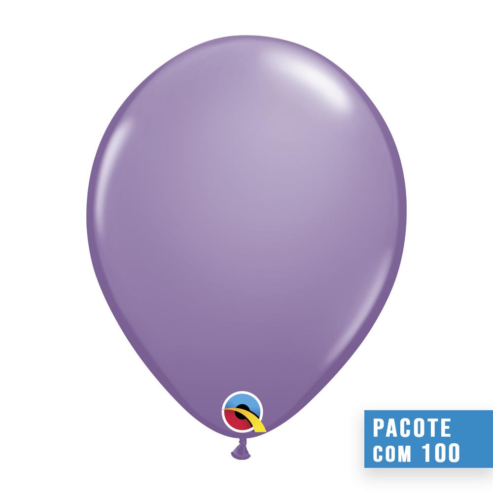 BALÃO DE LÁTEX LILÁS DA PRIMAVERA 9 POLEGADAS - PC 100UN - QUALATEX #43691