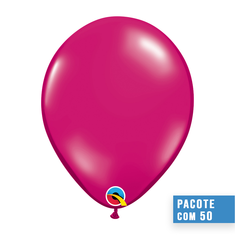 BALÃO DE LÁTEX MAGENTA JOIA 16 POLEGADAS - PC 50UN - QUALATEX #99325
