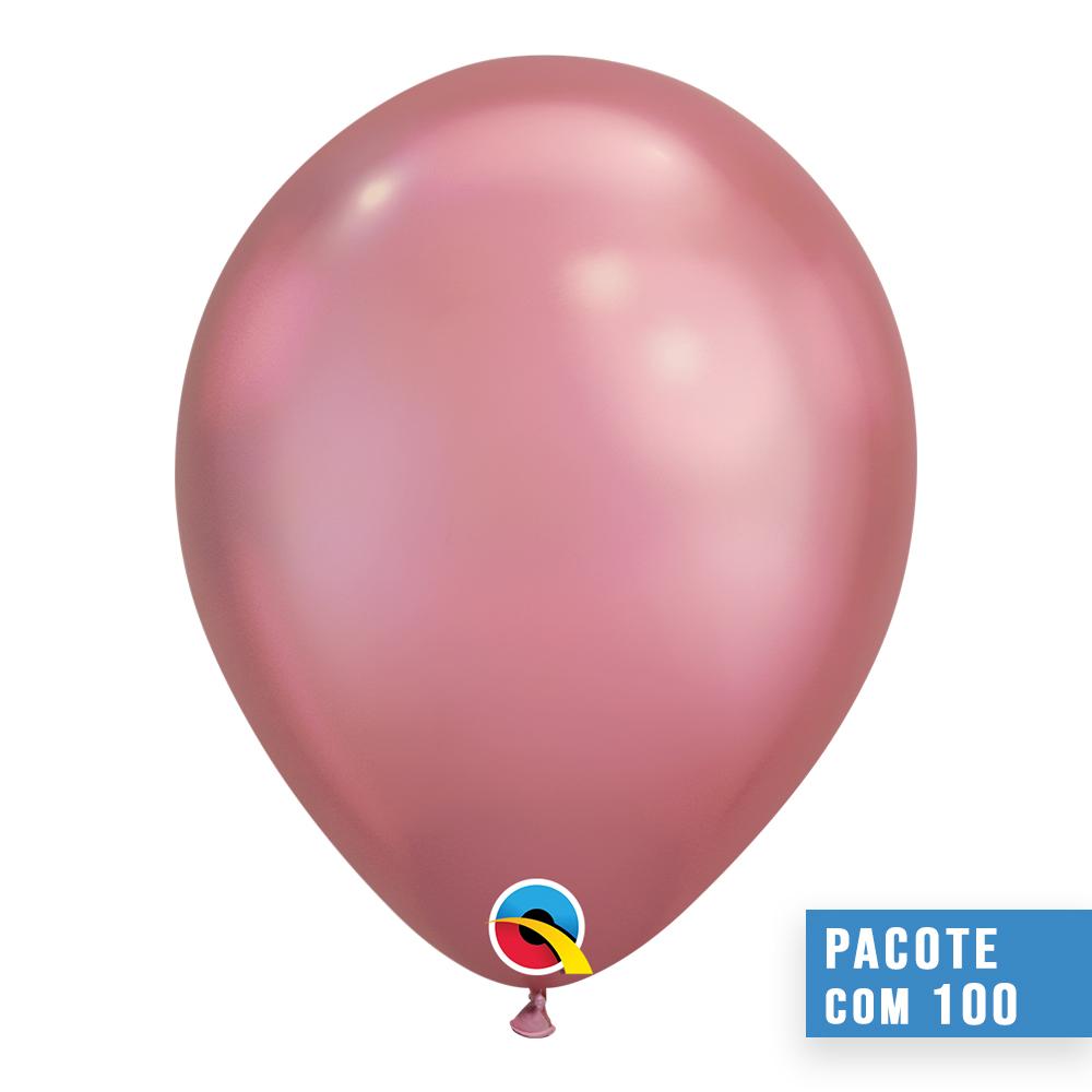 BALÃO DE LÁTEX MALVA CHROME 11 POLEGADAS - PC 100UN - QUALATEX #58275