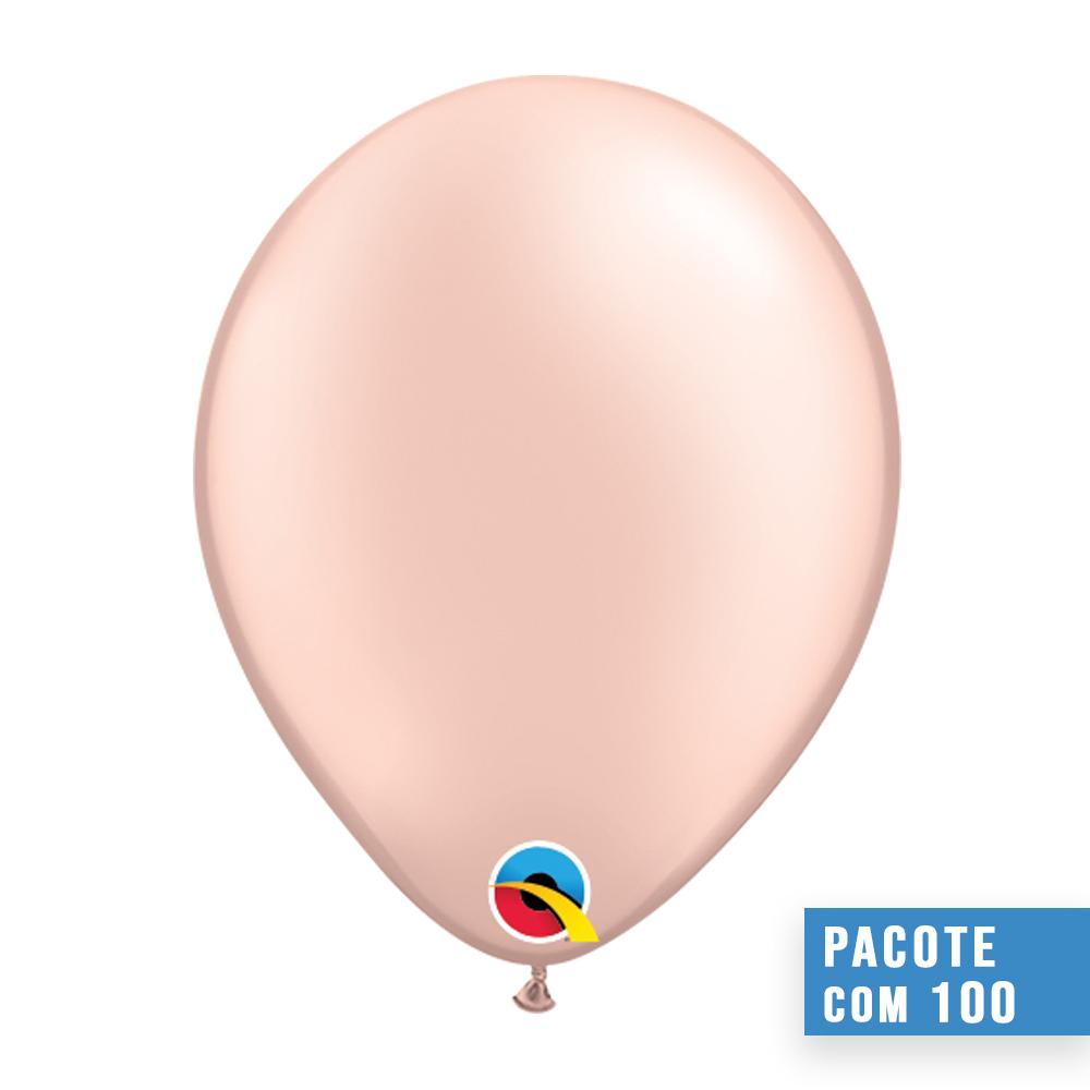 BALÃO DE LÁTEX PÊSSEGO PEROLADO 11 POLEGADAS - PC 100UN - QUALATEX #43782