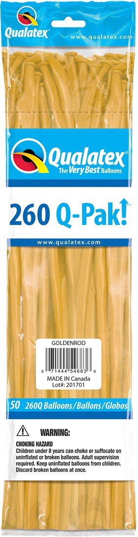 BALÃO DE LÁTEX Q-PAK AMARELO OURO - PC 50UN - QUALATEX #54683