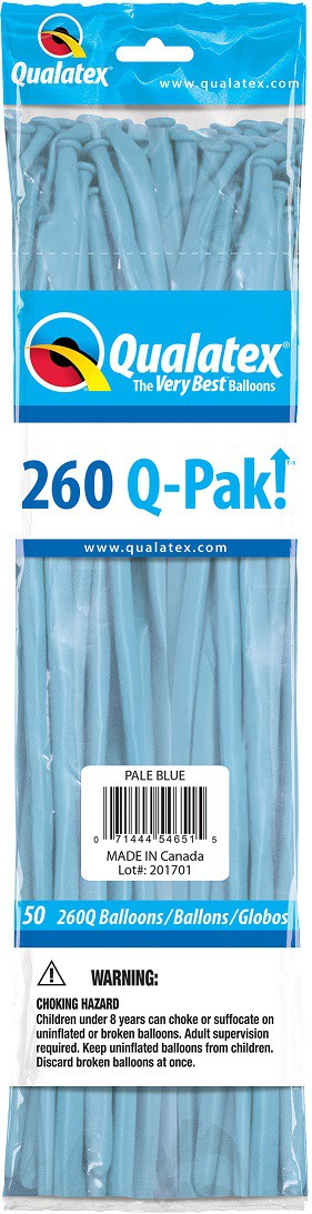 BALÃO DE LÁTEX Q-PAK AZUL CLARO - PC 50UN - QUALATEX #54651