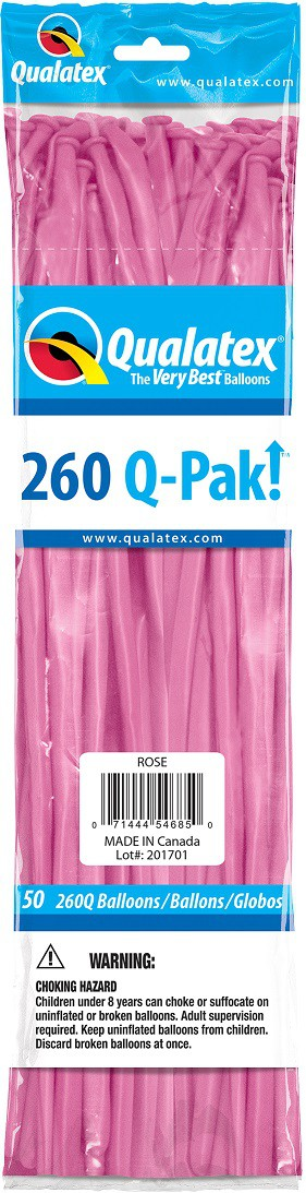 BALÃO DE LÁTEX Q-PAK ROSA MEXICANO - PC 50UN - QUALATEX #54685
