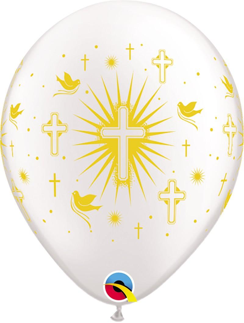 BALÃO DE LÁTEX RELIGIOSO PRL 11 POLEGADAS - PC 50UN - QUALATEX #86384