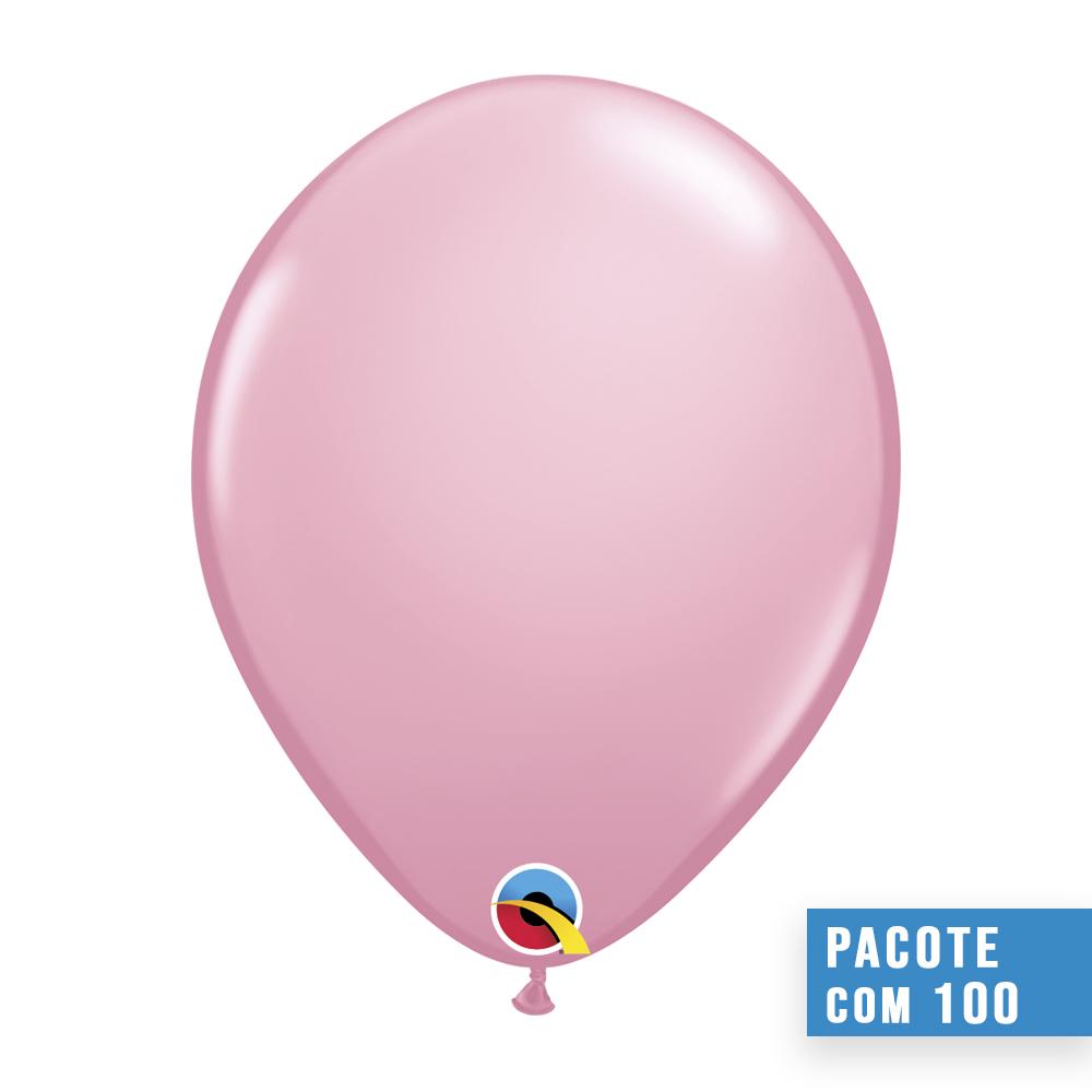 BALÃO DE LÁTEX ROSA 11 POLEGADAS - PC 100UN - QUALATEX #43766