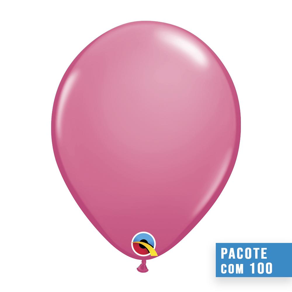 BALÃO DE LÁTEX ROSA MEXICANO 9 POLEGADAS - PC 100UN - QUALATEX #43704