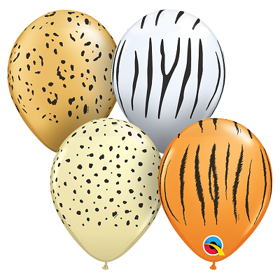 BALÃO DE LÁTEX SAFARI SORTIDO 11 POLEGADAS - PC 50UN - QUALATEX #12568
