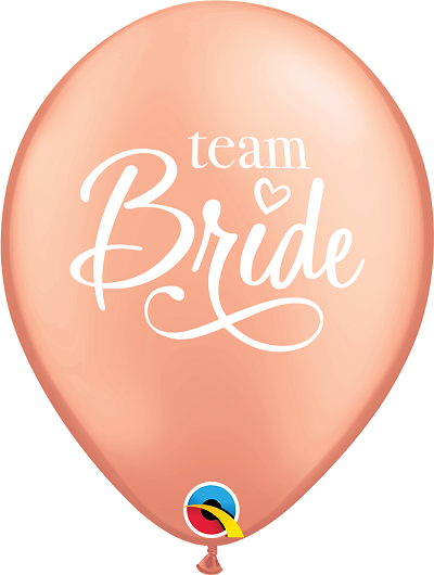 BALÃO DE LÁTEX TEAM BRIDE ROSE GOLD 11 POLEGADAS PC 50 -  QUALATEX #87889