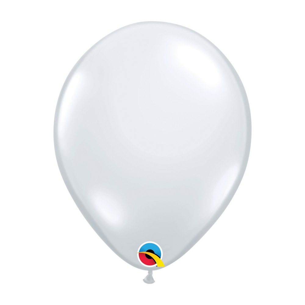 BALÃO DE LÁTEX UNITÁRIO DIAMANTE TRANSPARENTE 11 POLEGADAS - QUALATEX #43741U