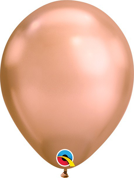 BALÃO DE LÁTEX UNITÁRIO OURO ROSE CHROME 7 POLEGADAS - QUALATEX #12936U