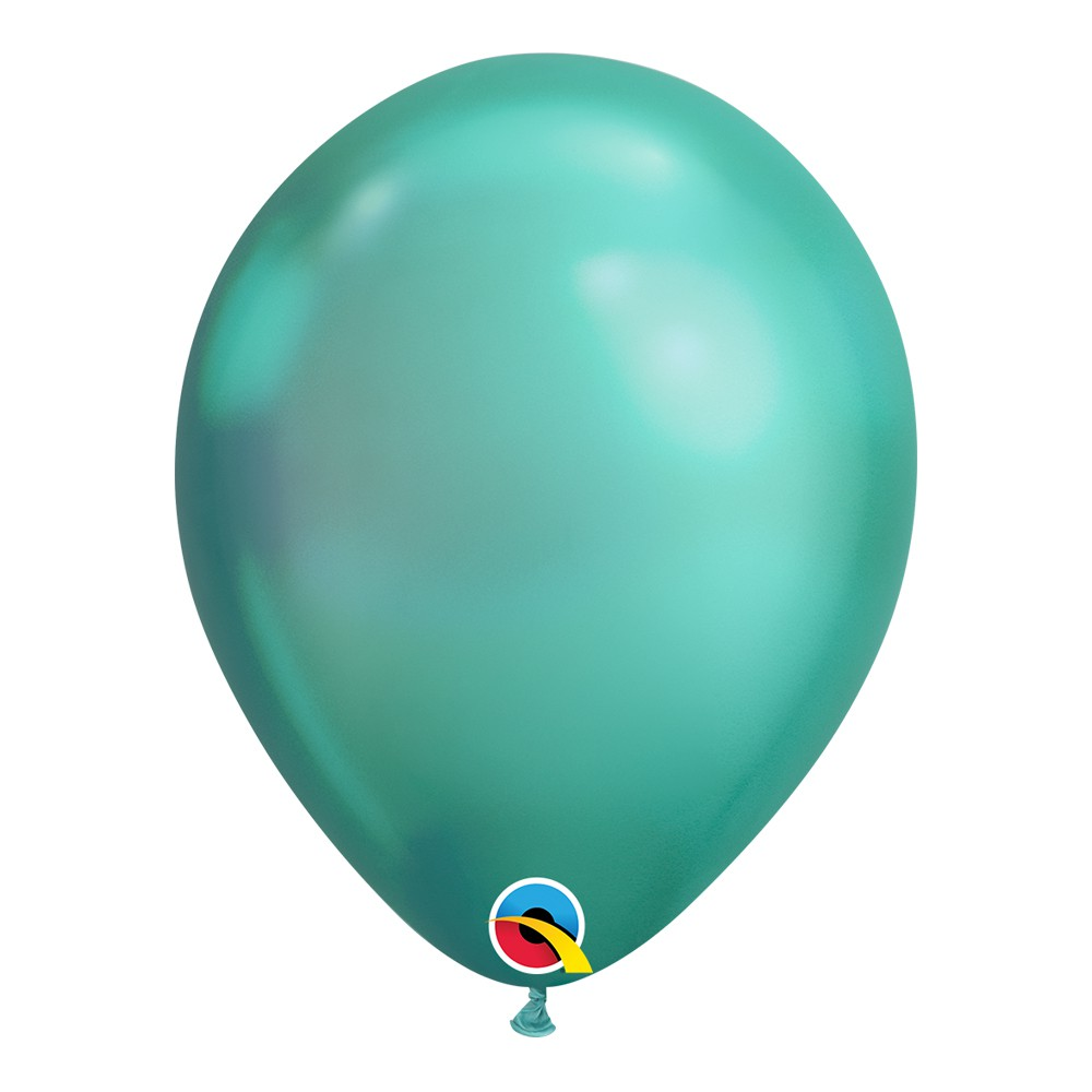 BALÃO DE LÁTEX UNITÁRIO VERDE CHROME 11 POLEGADAS - QUALATEX #58273U
