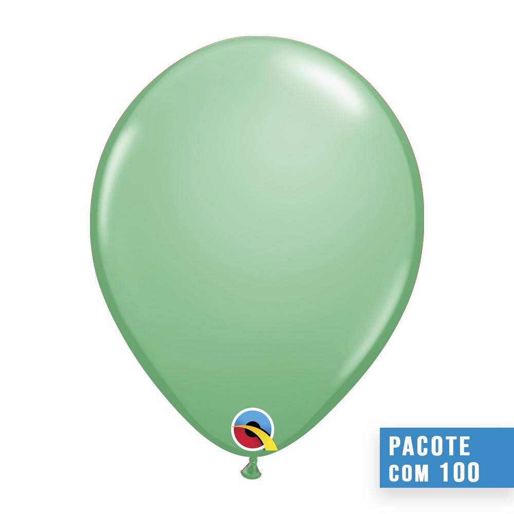 BALÃO DE LÁTEX VERDE INVERNO 5 POLEGADAS - PC 100UN - QUALATEX #43608