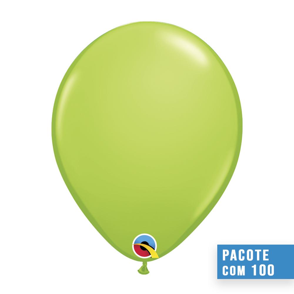 BALÃO DE LÁTEX VERDE LIMA 11 POLEGADAS - PC 100UN - QUALATEX #48955