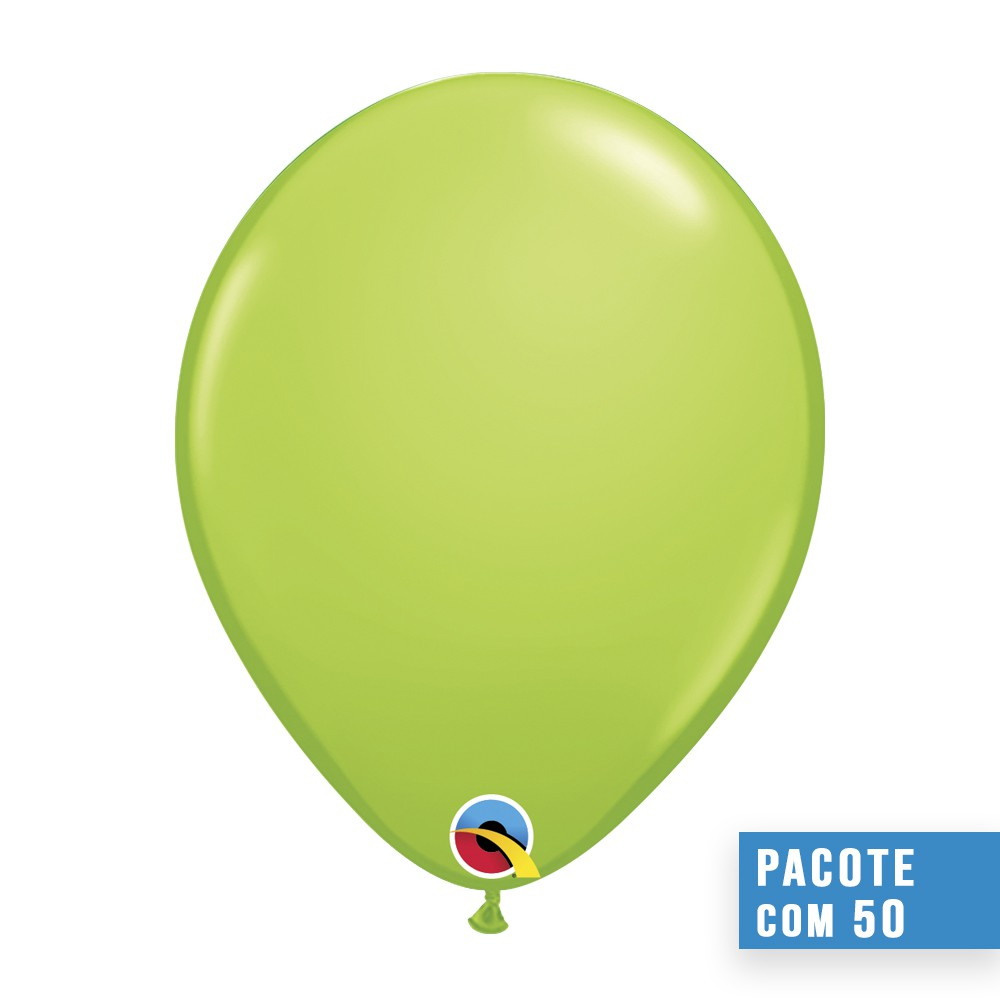 BALÃO DE LÁTEX VERDE LIMA 16 POLEGADAS - PC 50UN - QUALATEX #73145