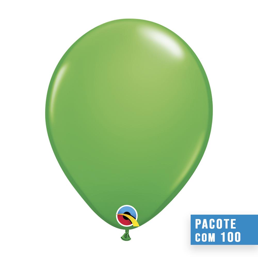 BALÃO DE LÁTEX VERDE PRIMAVERA 11 POLEGADAS - PC 100UN - QUALATEX #45712