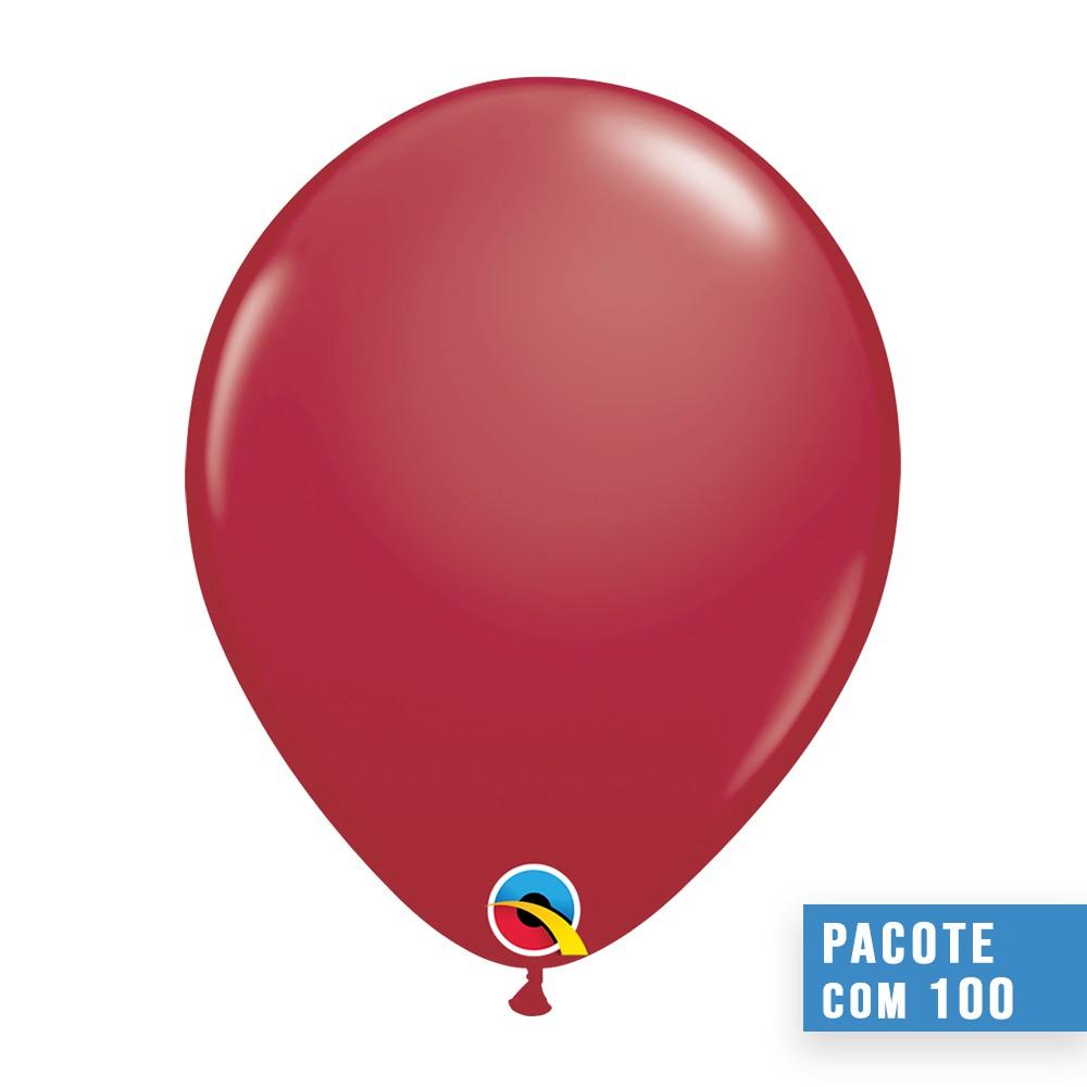 BALÃO DE LÁTEX VERMELHO GRANADA 5 POLEGADAS - PC 100UN - QUALATEX #57130