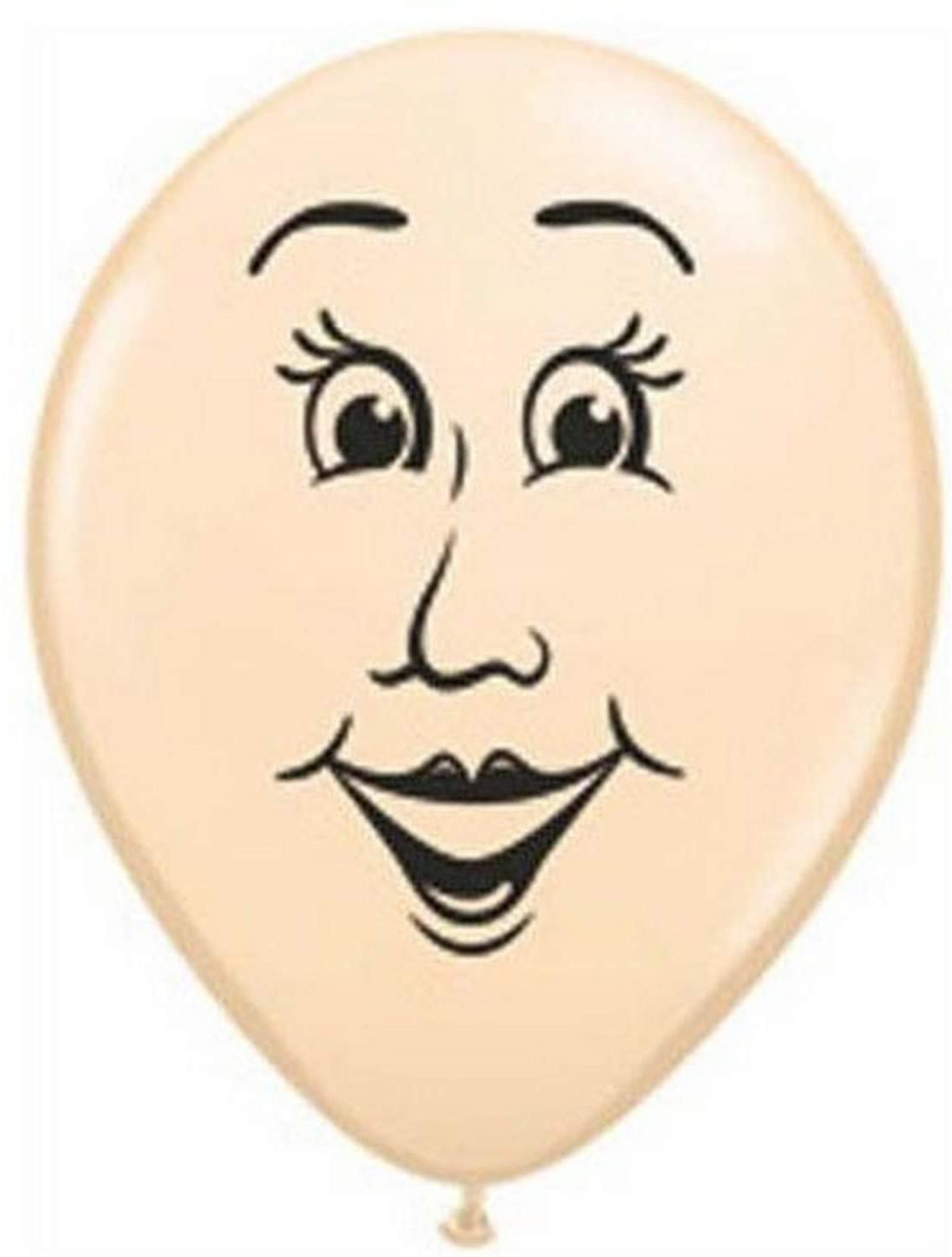 BALÃO DE LÁTEX WOMAN'S FACE 5 POLEGADAS - PC 100UN - QUALATEX #99310