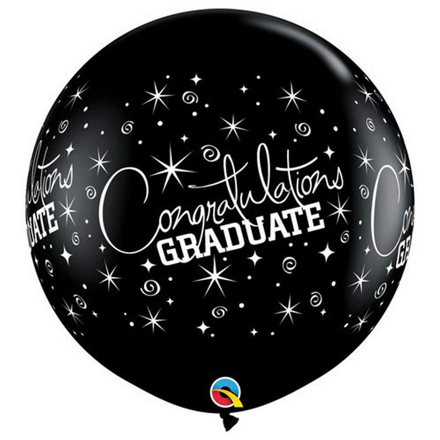 BALÃO LÁTEX CONGRATULATIONS GRADUATE WRAP 3 PÉS - PC 2UN - QUALATEX #29947