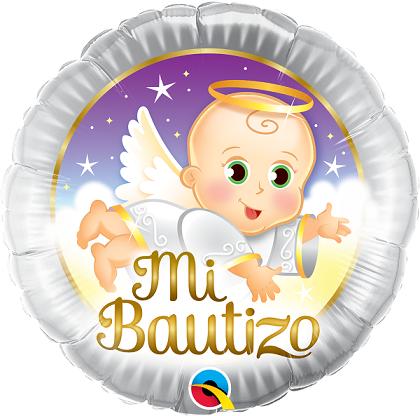 BALÃO METALIZADO 18 POLEGADAS MI BAUTIZO ANGEL BABY- QUALATEX #57286