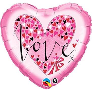 BALÃO METALIZADO CORAÇÃO - RACHEL ELLEN - LOVE LITTLE HEARTS - 18 POLEGADAS - QUALATEX #61881
