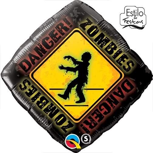 BALÃO METALIZADO DIAMANTE ZOMBIES CROSSING - 18 POLEGADAS - QUALATEX #33755